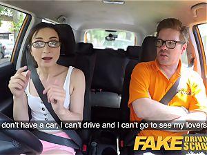 fake Driving school red-hot Italian nymphomaniac minx