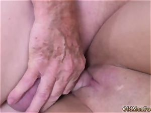 father and mummy senior stud hard-core Ivy amazes with her giant bumpers and booty