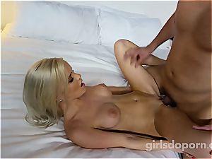 buxom ash-blonde makes first pornography EVER